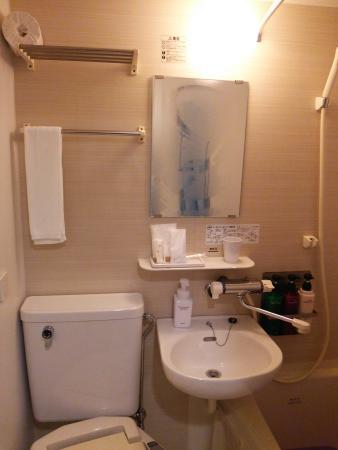 Hotel Sunroute Umeda: コンパクトだけど綺麗なユニットバス