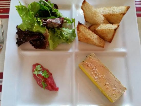 La Place : Tartelette au citron Foie gras...