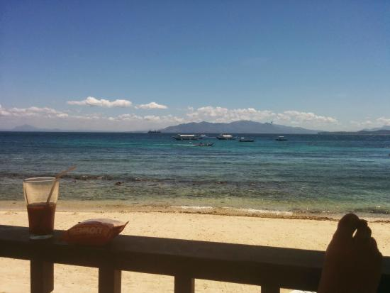 Campbell's Beach Resort: View from hotel room verandah