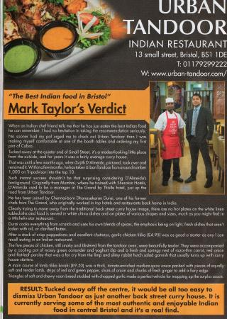 Urban Tandoor Review from Bristol Post
