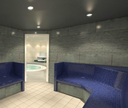 Spa on the Breck: View of Spa Experience from the Steam Room