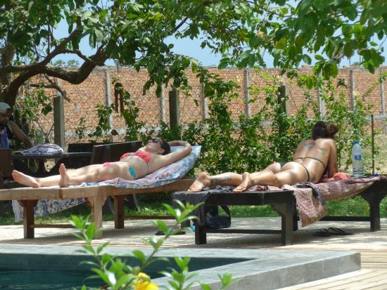 My Girlfriend And One Of The Yoga Teachers Sunbathing By