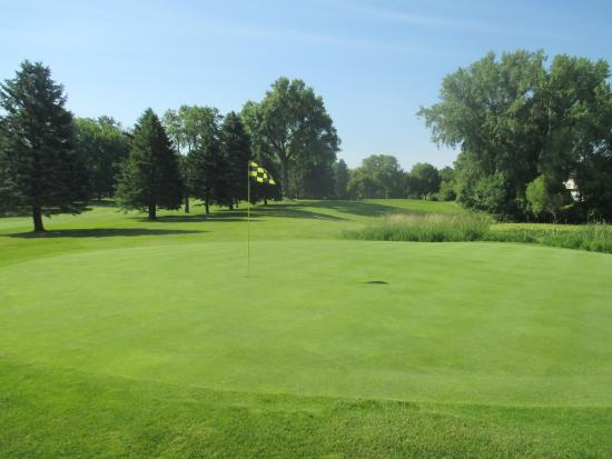 Brightwood Hills Golf Course : Great view from the 9th hole looking over the 4th hole.
