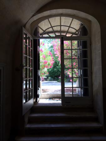 Jardins de l'abbaye Saint-André : Looking out from the Abbey of Saint Andre