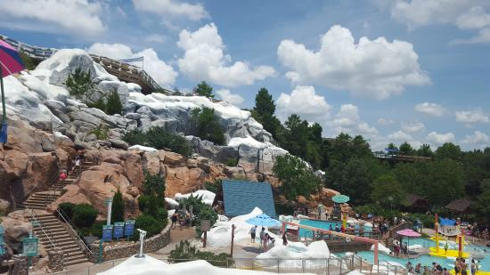 Disney S Blizzard Beach Water Park View Of From Ski Lift