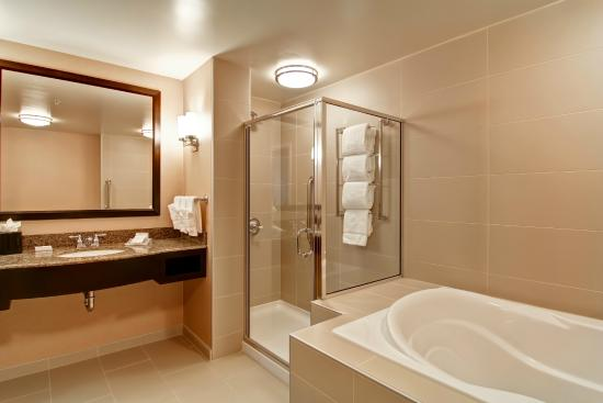 Suite With Soaking Tub And Shower Picture Of Hilton Garden Inn