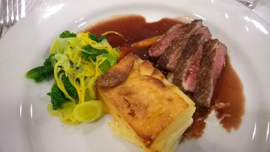 Zest: Seared duck, Squash, Dauphinoise potato and kale