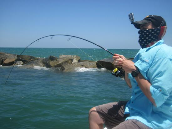 Matt bending rod picture of the fishing guy private for Deep sea fishing new smyrna beach