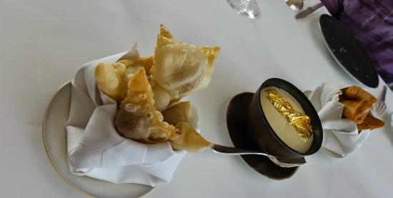 Blue crab and coco-curry bourek