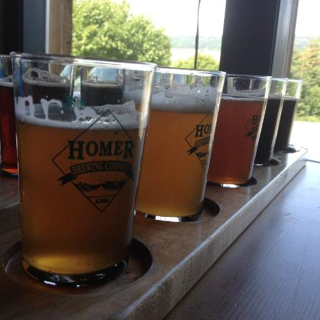 Homer Brewing Company: Tasting some beers