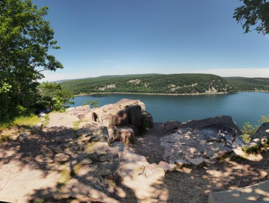 Wheeler's Campground: Devil's Lake State Park West Bluff view 1