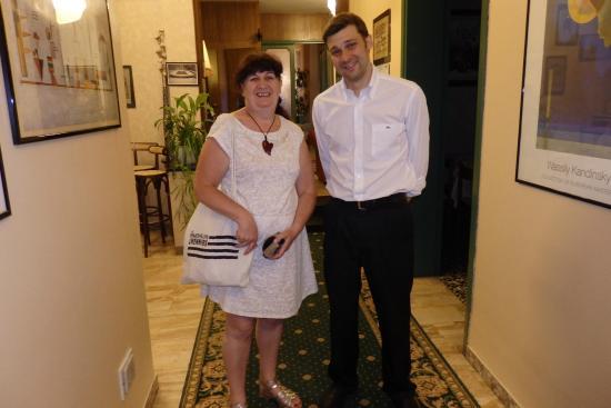 Park Hotel Fantoni: avec le fils de la famille et serveur, fort sympathique,