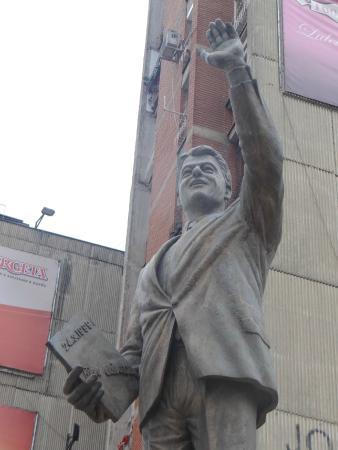 Bill Clinton Statue: Памятник крупным планом