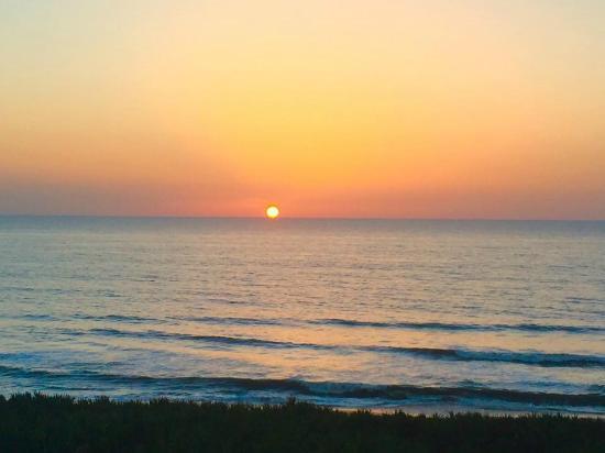 Cinnamon Beach at Ocean Hammock Beach Resort: Sunrise from our balcony at 642 Cinnamon Beach