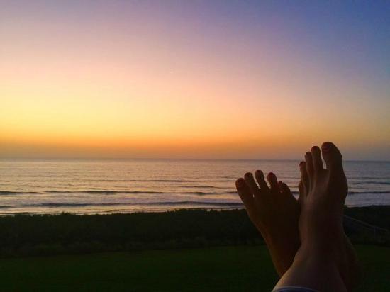 Cinnamon Beach at Ocean Hammock Beach Resort: View from the balcony at dawn