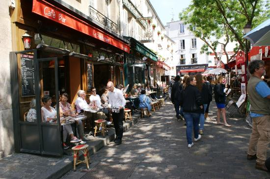 Paris, Fransa: Restaurant sur la place