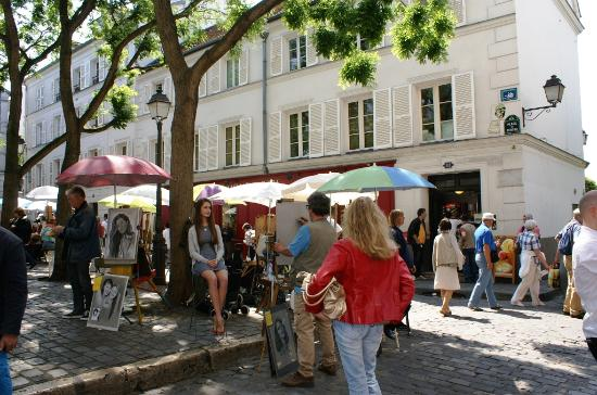 Paris, Fransa: Portraitiste en action