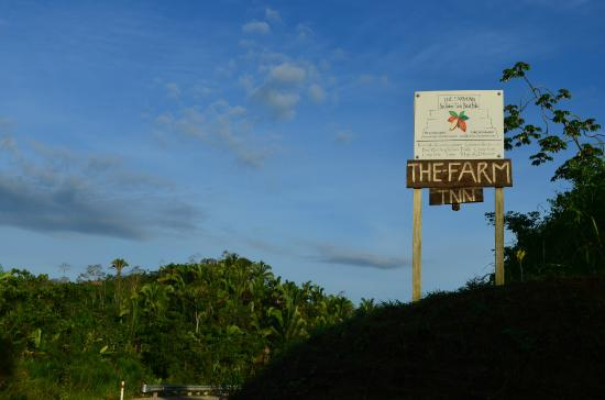 San Antonio, Belize: Sign on the Road