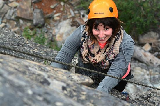 Glacier Adventure Guides - Day Tours : I think she's having fun!
