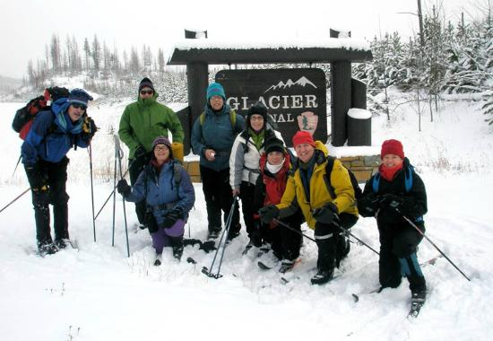 Glacier Adventure Guides - Day Tours: All group sizes and ages are welcome on our xc ski/snowshoe tours!