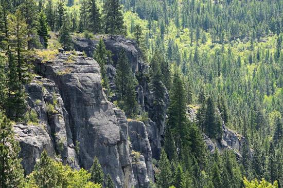 Columbia Falls, MT: The bluffs of Stone Hill's main area.