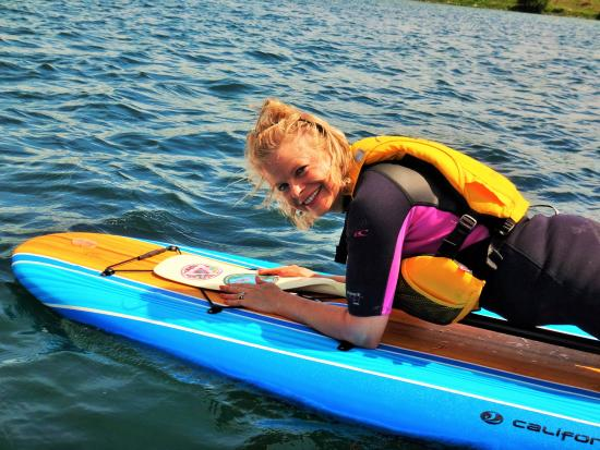 Barrie, Canada: Planking on the Paddle Board