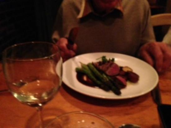 Caiola's: Steak with asparagus