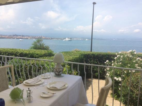 Restaurant de Bacon: Our table with a view
