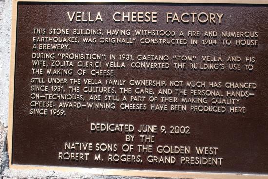 Vella Cheese Company: History of the Vella Cheese Factory