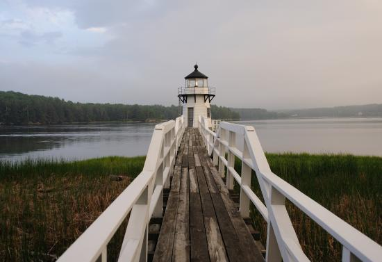 Arrowsic, ME: Doubling Point Lighthouse - distance