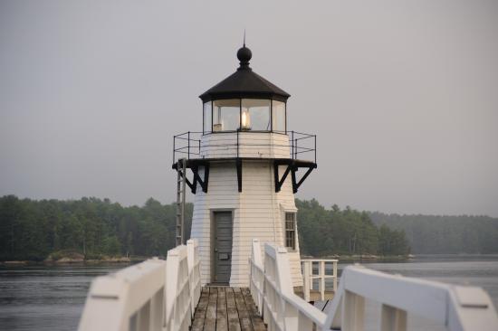 Arrowsic, ME: Doubling Point Lighthouse - closeup
