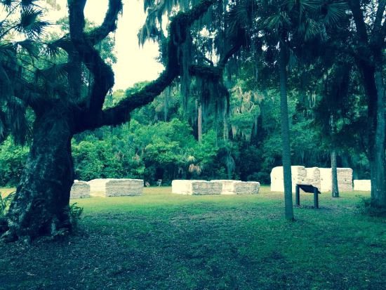 Timucuan Ecological & Historical Preserve: Tabby Ruins Slave homes at Kingsley Plantation