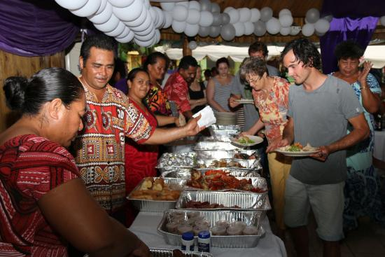 Taufua Beach Fales: Dinner - Wedding Reception