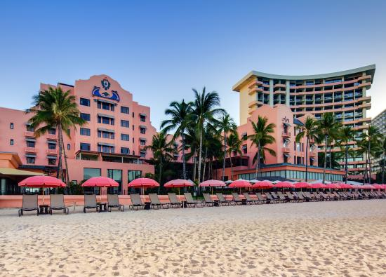 The Royal Hawaiian, a Luxury Collection Resort: Beachfront Location on the famed Waikiki Beach