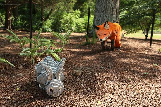 Huntsville, AL: Fox and Hare lego display
