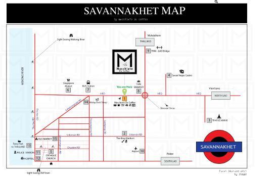 Savannakhet Map Picture of Macchiato de coffee Savannakhet