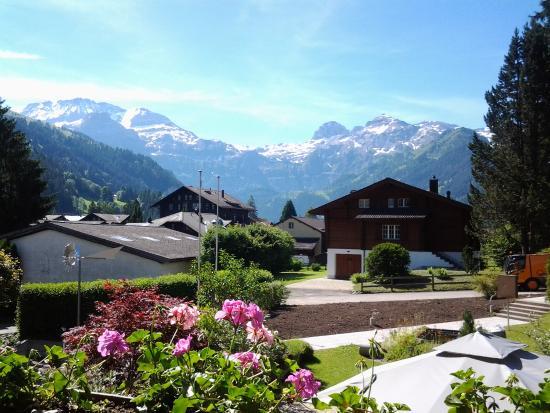 Alpenhotel Residence: uitzicht vanaf het balkon.
