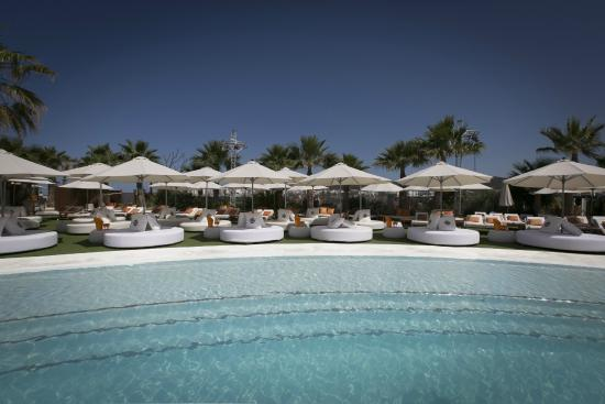 Poolside Bed poolside beds - picture of ocean beach ibiza, sant antoni de