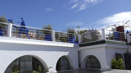 Riad Chouia Chouia: Sicht auf die Terrasse