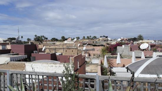Riad Chouia Chouia: Sicht von der Terrasse