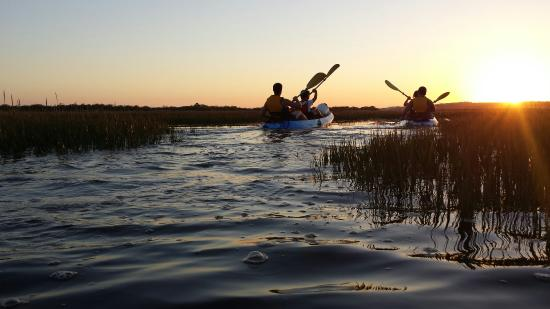 Cartaya, Spain: Rutas de kayak. Sunset
