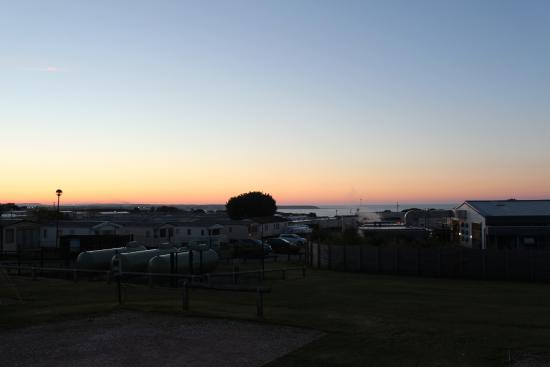 Reighton Sands Holiday Park - Haven: Sunset over the sea, viewed from our touring pitch.
