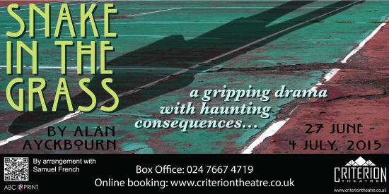 Κόβεντρυ, UK: Snake in the Grass by Alan Ayckbourn - 27th June to 4th July - www.criteriontheatre.co.uk
