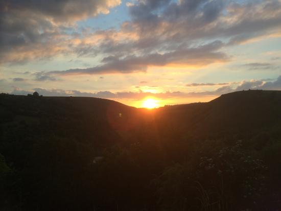 Monsal Head Hotel: Sunset