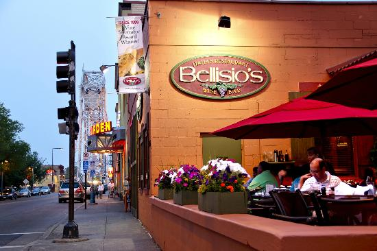 Bellisio S Italian Restaurant And Wine Bar Warm Summer Evening