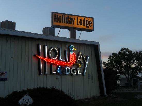 Holiday Lodge Motel Campground: Front sign