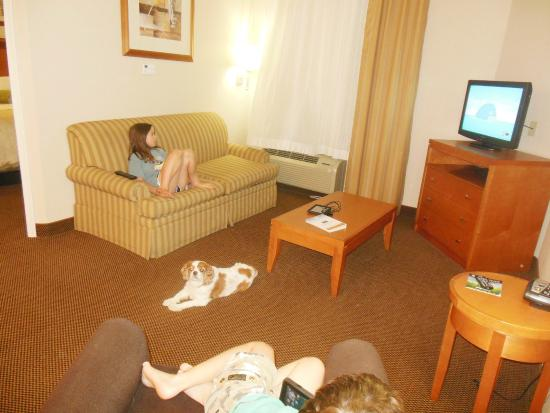Candlewood Suites Winchester: Living Room - King Bedroom Suite