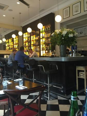 Brasserie Warszawska : Bar with handmade leather stools