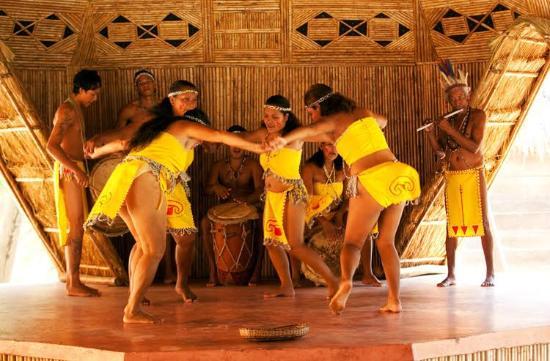 Carib Cultural Village by the Sea (Kalinago Barana Aute) : Kalinago cultural group in action!