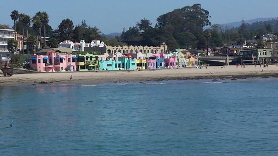 Capitola City Beach: Beach from the Capitola Wharf
